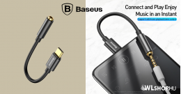 Baseus L54 USB-C  - 3,5 mm-es audio adapter - Fekete