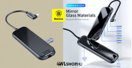 Baseus Multifunkciós USB-C HUB - 3xUSB3.0+HD4K+RJ45+PD - adapter