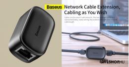 Baseus hálózati kábel csatlakozó RJ45 - Fekete