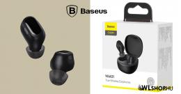 Baseus Bluetooth vezeték nélküli fülhallgató/headset Encok True WM01 - Fekete