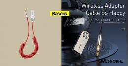 Baseus BA01 USB vezeték nélküli adapter/3,5mm jack - Piros