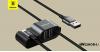 Baseus speciális iPhone töltő kábel + 2USB csatlakozó 5V/3A - Fekete