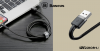 Baseus iPhone Lightning gyors adat, töltőkábel 2,4A - 0,5m  - Szürke & Fekete