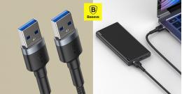 Baseus Cafule USB3.0(apa)/USB3.0(apa)átalakító kábel 2A 1m - Sötét szürke