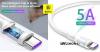 Baseus Double Ring Huawei gyors töltő kábel USB-C 5A 2m - Fehér
