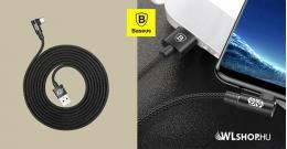 Baseus USB-C 90°-os adat/töltő kábel játékhoz 2m MVP - Fekete
