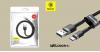 Baseus USB-C gyors adat, töltőkábel 3A - 0 ,5m  - Szürke/Fekete