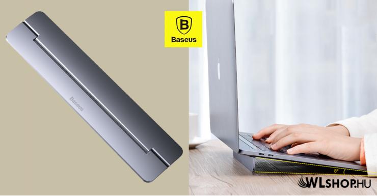 Baseus Papery MacBook és Laptop asztali tartó - Sötét szürke