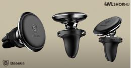 Baseus mágneses autós telefontartó szellőzőrácsra Air Vent - Fekete