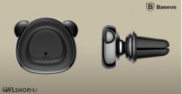 Baseus Bear mágneses autós telefontartó szellőzőrácsra - Fekete
