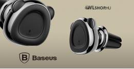 Baseus Bear mágneses autós telefontartó szellőzőrácsra - Szürke