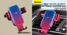 Baseus Glaze autós telefontartó szellőzőrácsra - Piros