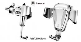 Baseus Gravity autós telefontartó szellőzőrácsra 65-88 mm-ig állítható - Ezüst