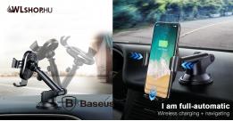 Baseus Osculum vezeték nélküli töltő és tartó 2in1 műszerfalra - Fekete