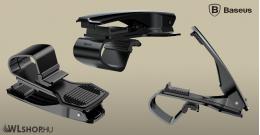 Baseus Mouth autós telefontartó max. 85mm-es befogó csipesszel - Fekete