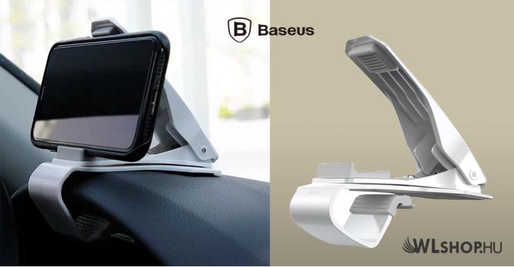 Baseus Mouth autós telefontartó max. 85mm-es befogó csipesszel - Fehér