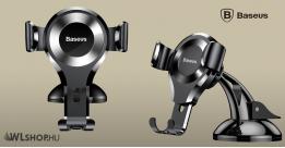 Baseus Osculum Gravity autós telefontartó  - Ezüst