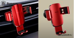 Baseus Metal Age autós telefontartó szellőzőrácsra - Piros