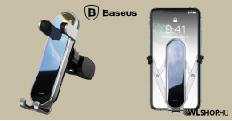 Baseus Penguin gravitációs telefontartó szellőzőre - Ezüst