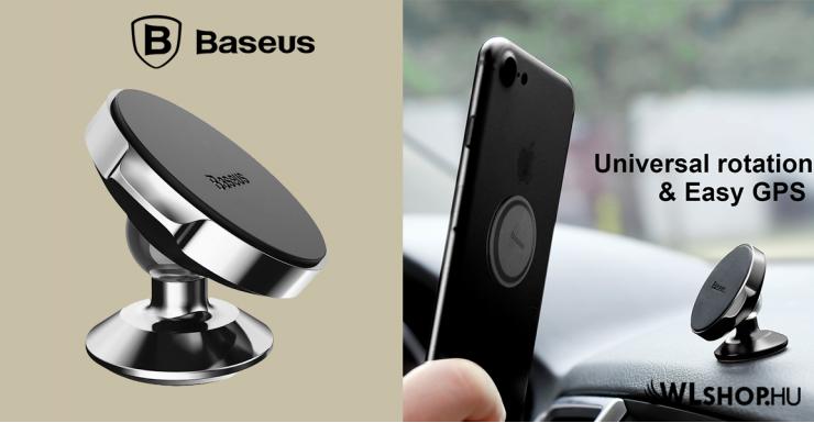 Baseus Small Ears  mágneses autós telefontartó műszerfalra - Fekete