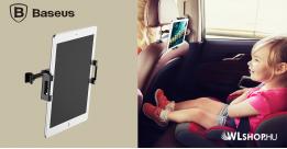 Baseus univerzális autós tablet tartó fejtámlára - Fekete