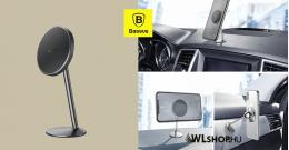 Baseus Little Sun mágneses autós telefontartó műszerfalra - Fekete