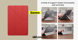 Baseus Jane Y iPad 10.2 2019 tablet tok - Piros