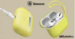 Baseus Let's go Airpods Pro szilikon védőtok - Sárga
