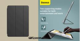 Baseus Simplism mágneses bőr tok iPad Pro 12.9 (2020) - Fekete
