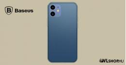 Baseus iPhone 12 Mini matt üveg tok - Kék