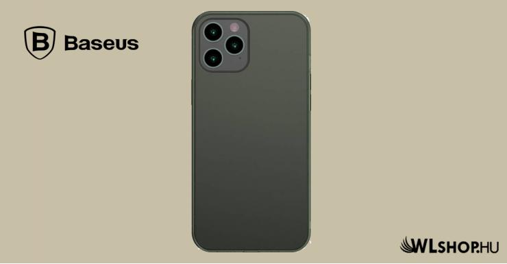Baseus iPhone 12 Pro Max matt üveg tok - Zöld