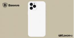 Baseus iPhone 12 Pro Max rugalmas gél tok  - Fehér