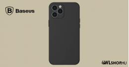 Baseus iPhone 12 Pro Max rugalmas gél tok  - Fekete