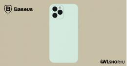 Baseus iPhone 12 Pro Max rugalmas gél tok  - Menta