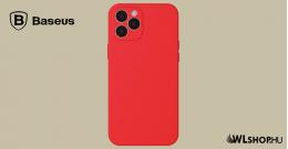 Baseus iPhone 12 Pro Max rugalmas gél tok  - Piros