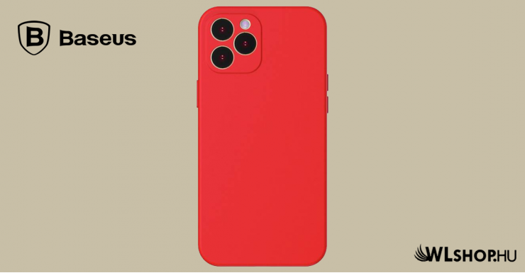 Baseus iPhone 12 Pro rugalmas gél tok  - Piros