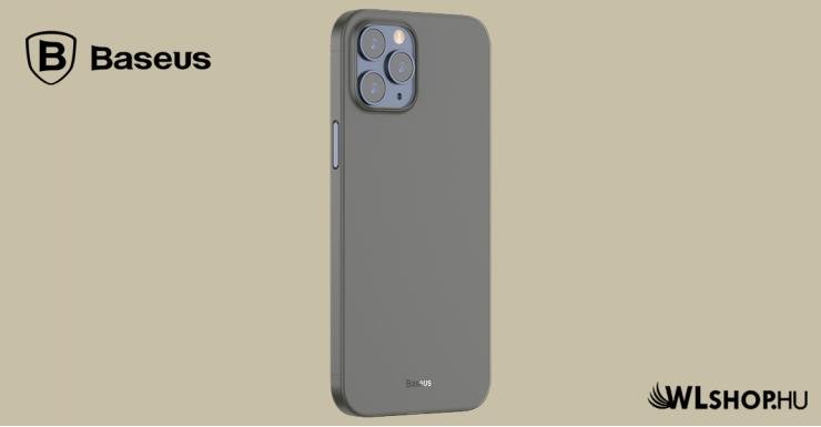 Baseus iPhone 12 Pro Max rugalmas tok Wing - Fekete