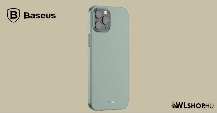 Baseus iPhone 12 Pro Max rugalmas tok Wing - Zöld