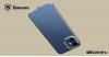 Baseus iPhone 12 Pro rugalmas gél tok, fényes fémes kerettel Shining - Ezüst