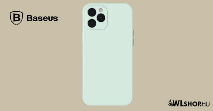 Baseus iPhone 12 Pro rugalmas gél tok  - Menta