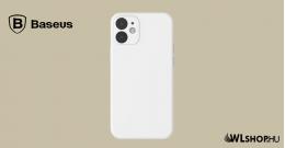 Baseus iPhone 12 Mini rugalmas gél tok  - Fehér