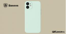 Baseus iPhone 12 rugalmas gél tok  - Menta