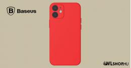 Baseus iPhone 12 Mini rugalmas gél tok  - Piros