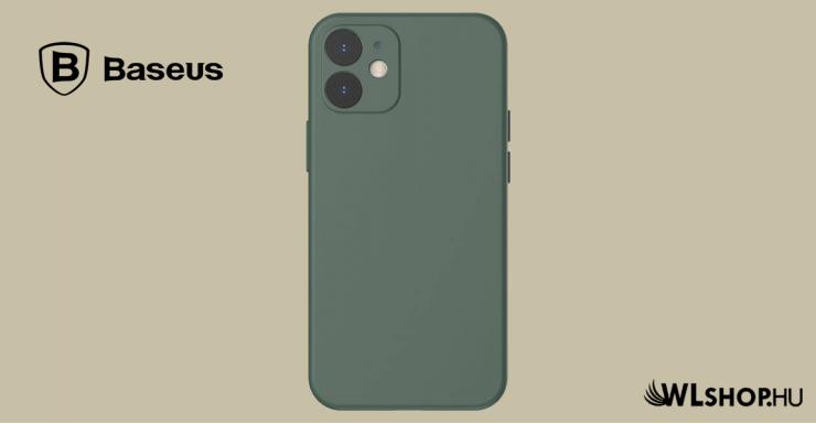 Baseus iPhone 12 rugalmas gél tok  - Sötétzöld