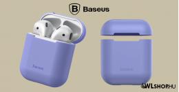 Baseus Airpods 1/2 szilikon védőtok- Lila