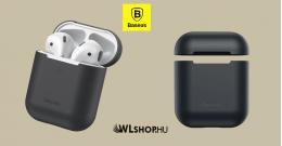 Baseus Airpods 1/2 szilikon védőtok - Fekete