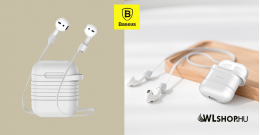 Baseus AirPods szilikon tok 2in1 - Szürke