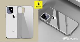Baseus Simplicity iPhone 11 6.1 TPU tok - Átlátszó - fekete