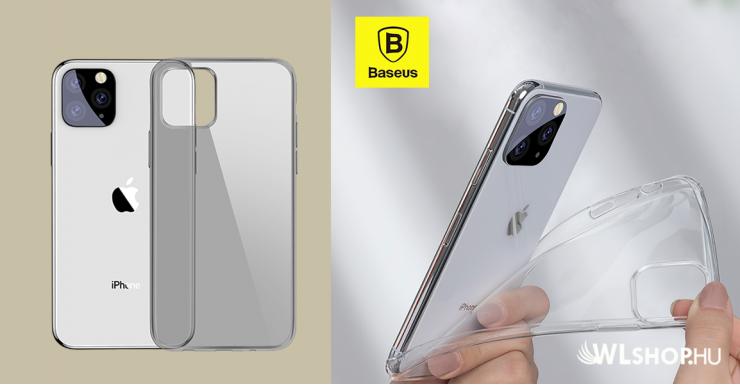 Baseus Simplicity iPhone 11 Pro Max 6.5 TPU tok - Átlátszó - fekete