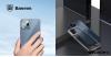 Baseus iPhone 12 Pro Max rugalmas gél tok, fényes fémes kerettel Shining - Ezüst